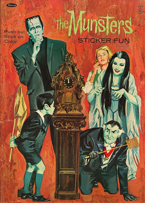 "1965 Whitman ""The Munsters"" Sticker Fun Book                                                                                                                                                                                 More"