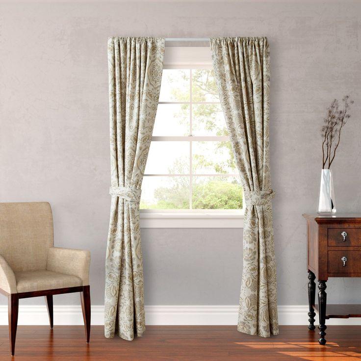 (Grey) Cottage Belvedere 4-piece Lined Window Panel Set (Belvedere)