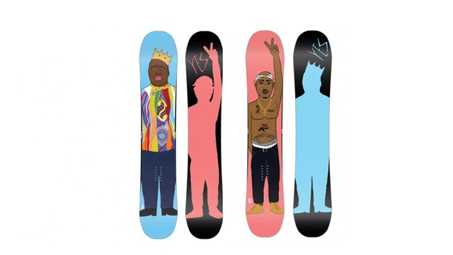 Pay Homage to Two Hip Hop Legends With Biggie and Tupac Snowboards