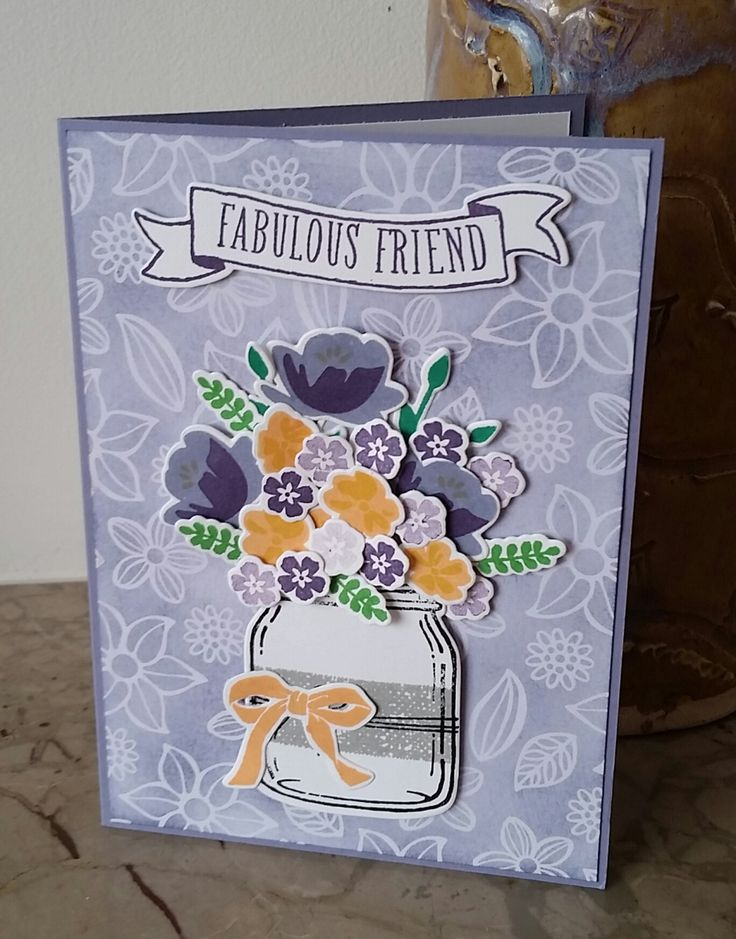 Stampin' Up! Demonstrator stampwithpeg – Irresistibly Floral Jar of Love, Fabulous Friend Card A bit late coming to you with today's project, yesterday was a very busy day.