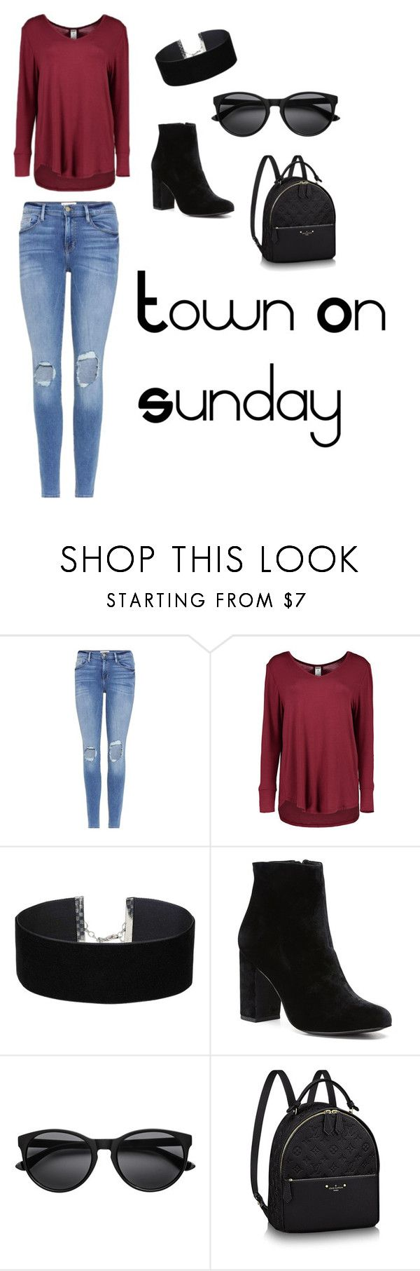 Town on Sunday by tara-briggs on Polyvore featuring Frame, Witchery and Miss Selfridge