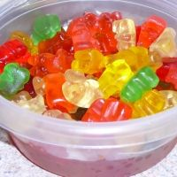 Rummy Bears. Delicious! (I used flavored Cruzan rum instead of spiced rum)