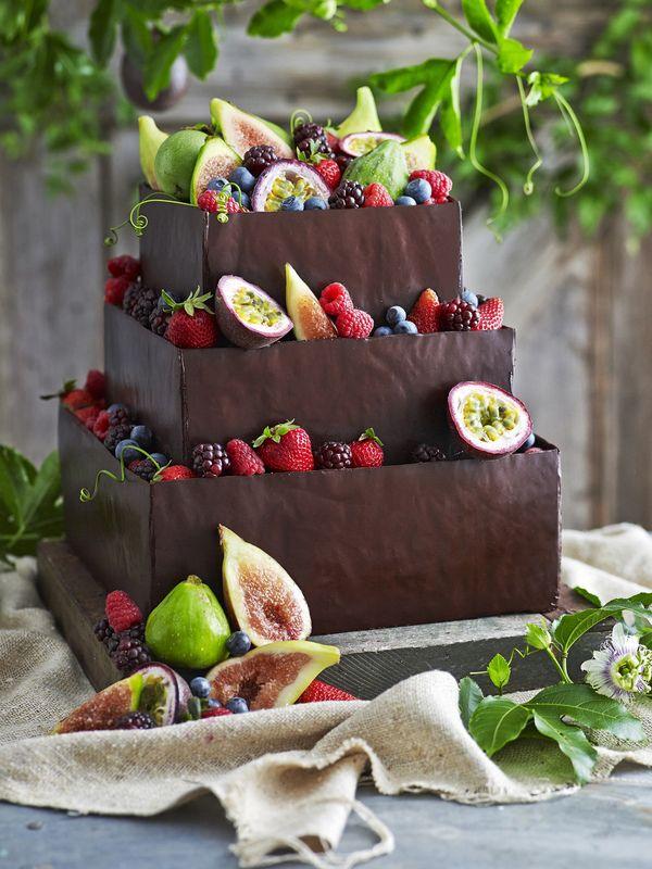james moffatt photography chocolate cake with fresh fruits #chocolatecake #fruits #cake
