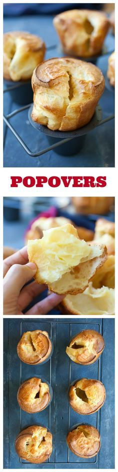 Popovers – American version of Yorkshire pudding. Popovers are tender, airy, hollow rolls surrounded by burnished crust, so yummy and addictive | rasamalaysia.com