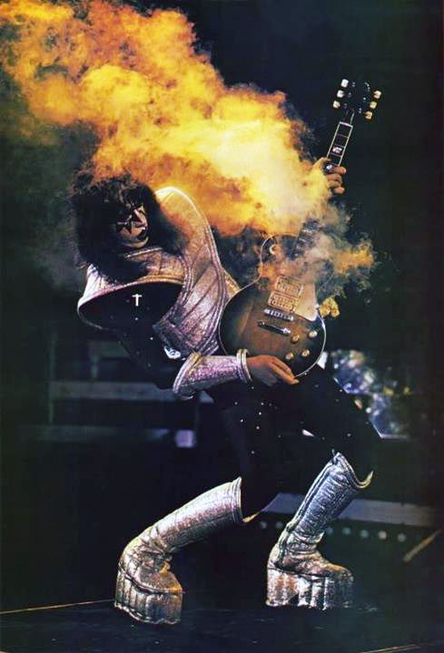 Ace Frehley - I had the original poster of this photo on my wall growing up. I was never able to find another. Iconic.