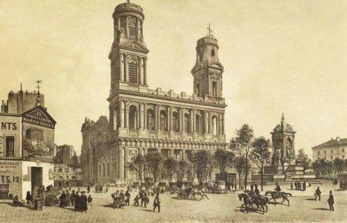 La place Saint-Sulpice en 1900