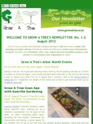 """Edition 1.2- """"Arbor Month Coming Up!"""" - August 2012"""