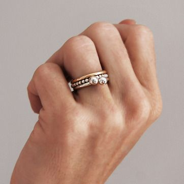 MILA COMBO rings My/Gold Shop stacking rings online. WWS. #stackingrings