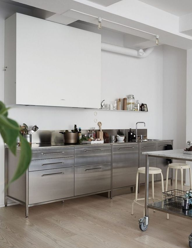 Green home with an industrial touch | Commercial kitchen ...