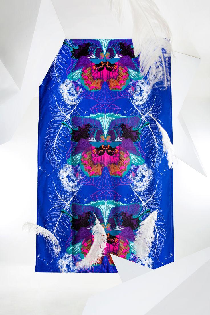 Universum curtain (blue)