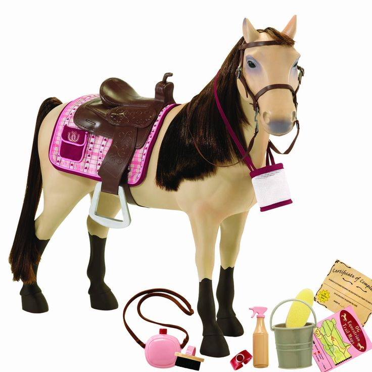 """Amazon.com: Our Generation Poseable Morgan Horse For 18"""" Dolls: Toys & Games"""