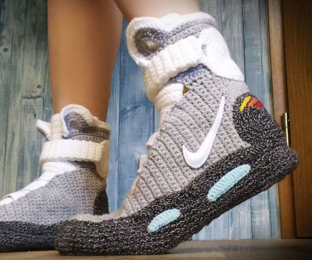 Back To The Future Knitted Slippers With Images Nike Air Mag