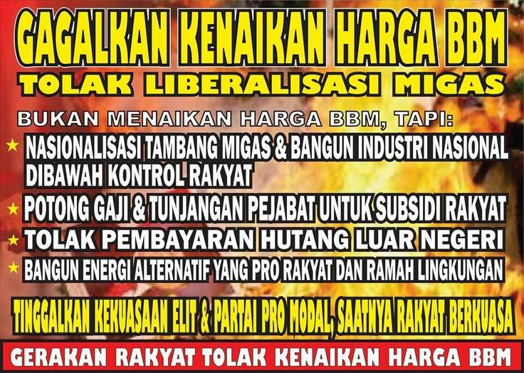 Tolak kenaikan harga bbm Indonesia Anti Capitalism