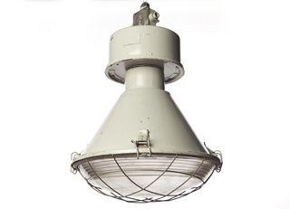 industriele fabriekslamp grijs of staal kleurig