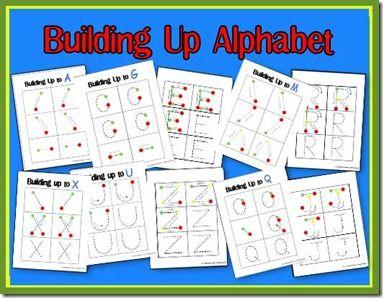 2 teaching mommies building up to alphabet printables preschool literacy pinterest. Black Bedroom Furniture Sets. Home Design Ideas