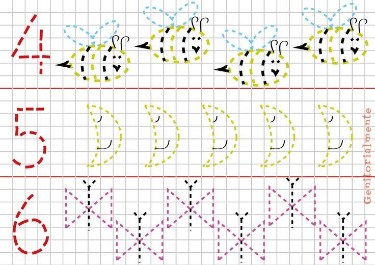 Genitori – giochi di pregrafismo prescrittura i numeri schede da scaricare | Genitorialmente