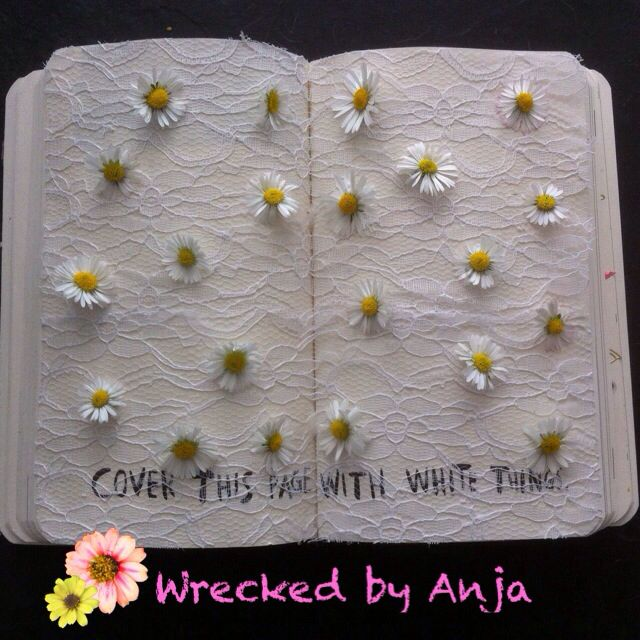 Cover this page with white things - wrecked by Anja