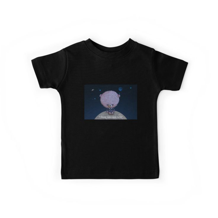 """""""Ted in Black"""" by I Love the Quirky - Kids Tee, available in multiple colours"""