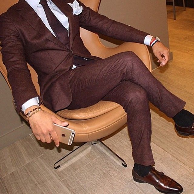 I love the color of this suit. Would be a great New Year's Eve outfit