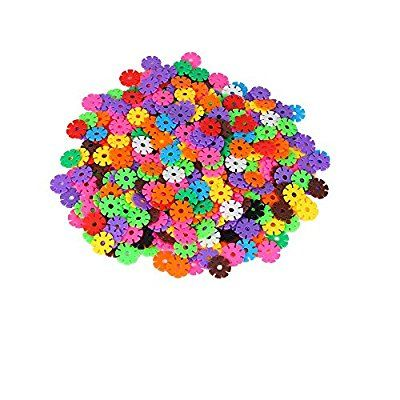 Tiswell Snowflake Shape Blocks Snowflakes Connect Reusable Colorful Building Blocks Toys - Great Imagination Toy for 3-10 Years Olds - for Boys and Girls (300PCS)