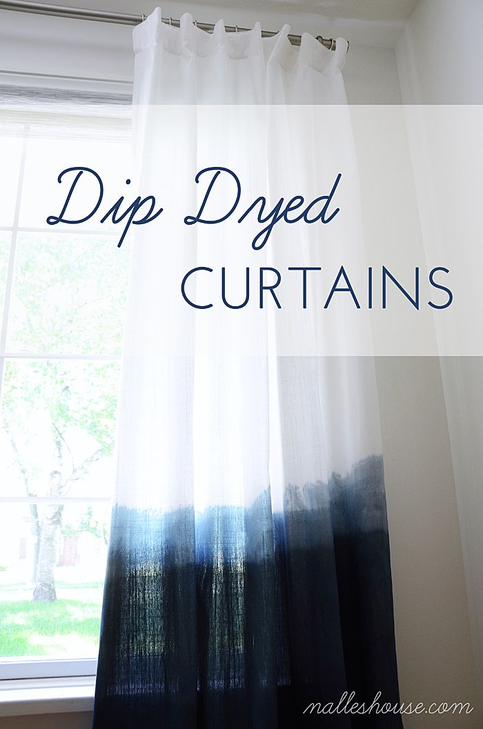 Easy DIY Dip Dyed Curtains made by Anu from Nalle's House featured on 4men1lady.com http://www.4men1lady.com/diy-dip-dyed-curtains/.