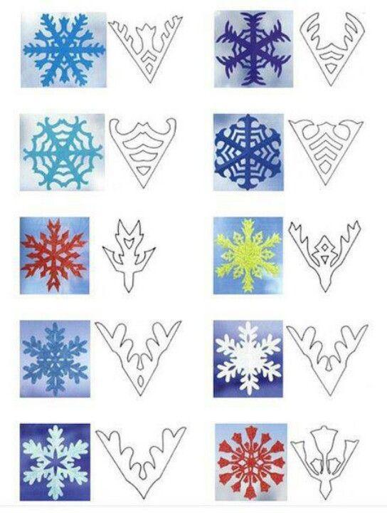 Snowflake patterns christmas diy pinterest snowflake for Diy snowflakes paper pattern