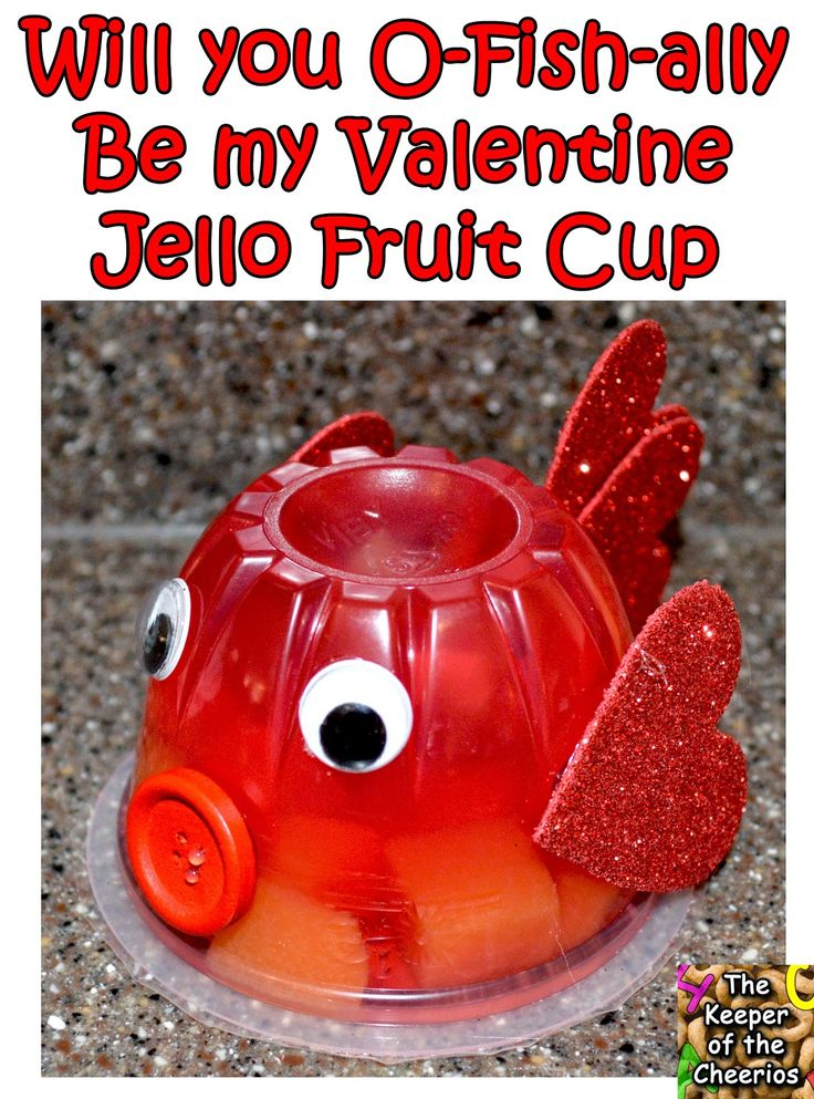 Fish Jello Fruit Cup Valentine