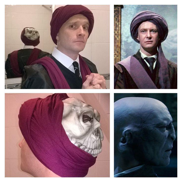 Professor Quirrell & Lord Voldemort! Fancy dress costume Harry Potter