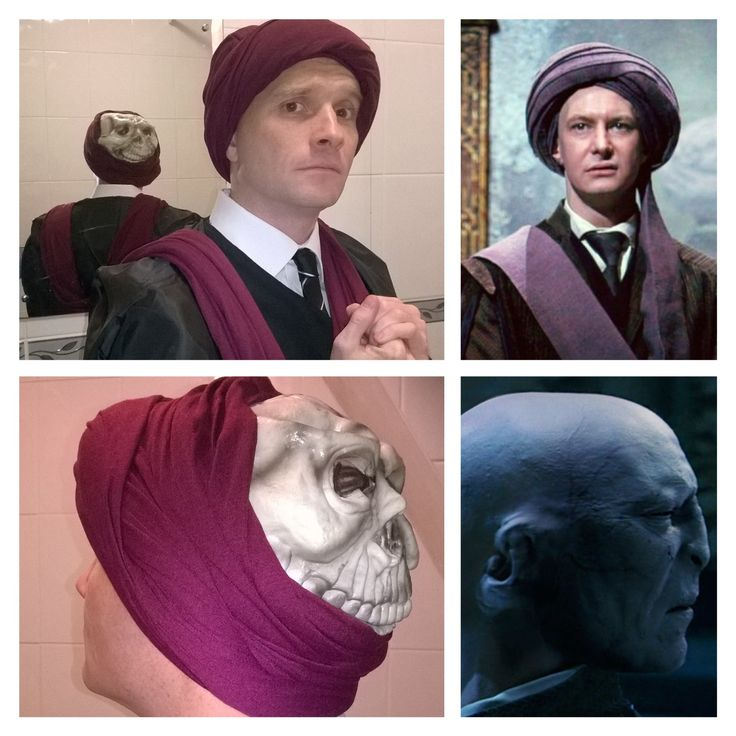 quirrell the sidekick of lord voldemort This purple turban was used by professor quirinus quirrell to hide the face of lord voldemort.