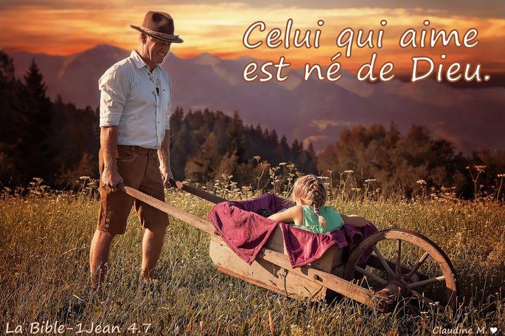 Claudine Michau - Google+  En dehors de Dieu et de son influence sur notre coeur, il n'y a pas de véritable amour, cet amour est le signe auquel on reconnaît ceux qui sont nés de nouveau, nés de Dieu. Un privilège, celui qui aime de l'amour de Dieu est aimé de Lui ....