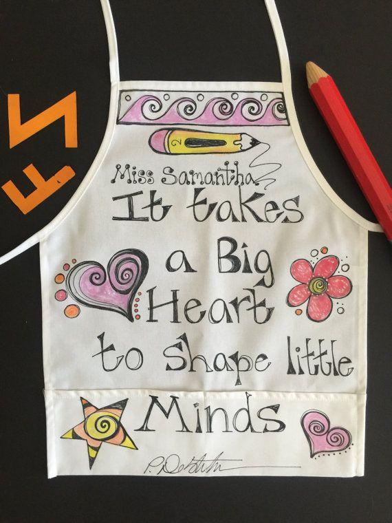 Teacher apron with pockets. Custom Apron. Great Gift item.