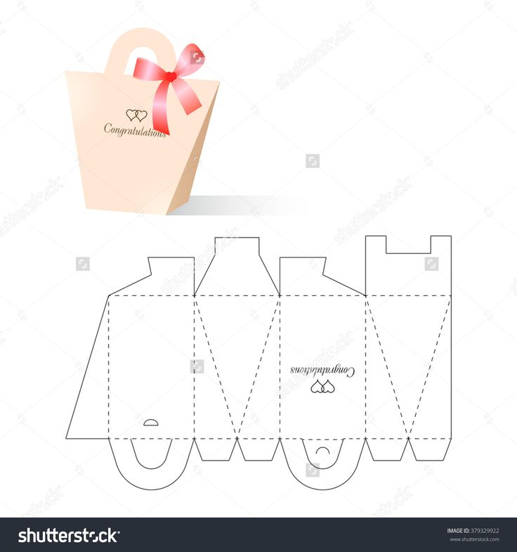 Retail Box With Blueprint Template Illustration vectorielle libre de droits 379329922 : Shutterstock