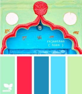 Bright and juicy!: Colors Combos, Design Seeds, Red And Bright Blue Bedrooms, Colors Combinations, Colors Schemes, Brown Bedrooms, Colors Palettes Blue, Colour Palettes, Bright Colors