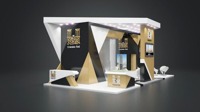 Emirates Reit stand design at Cityscape Abu Dhabi 2016 by Amr El Desouky at Coroflot.com