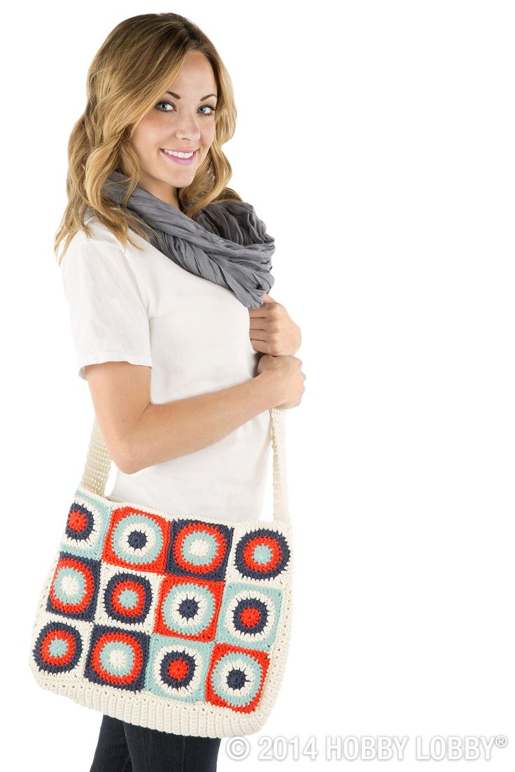 If you play your patterns right, your granny square tote can hop right past cutesy—and on into hipster-ville. Choose a sparse (but interesting) color scheme for this look. Then use our free instructions to help you crochet your own take on the design.