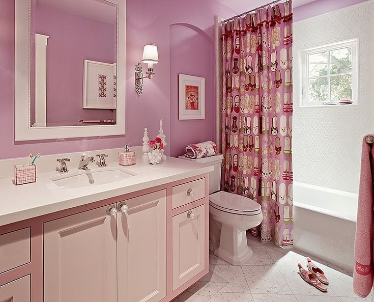 Best Children And Teen Bathrooms Images On Pinterest - Girls bathroom sets for small bathroom ideas
