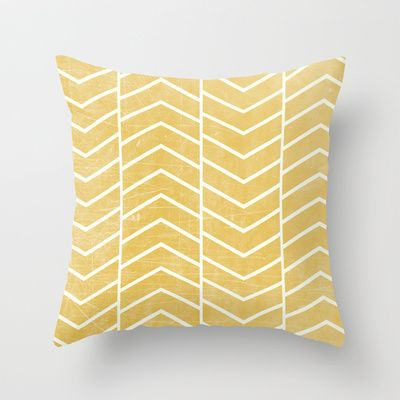 Yellow Chevron Throw Pillow by Zeke Tucker - $20.00 http://society6.com/product/Yellow-Chevron-E4q_Pillow