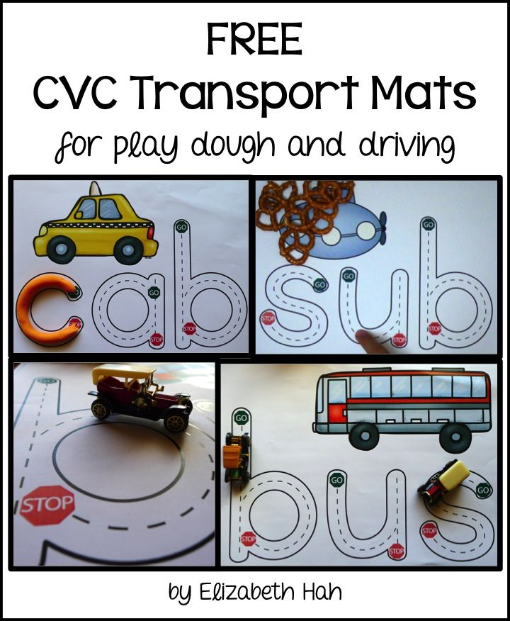 5 free mats! #transport #playdough