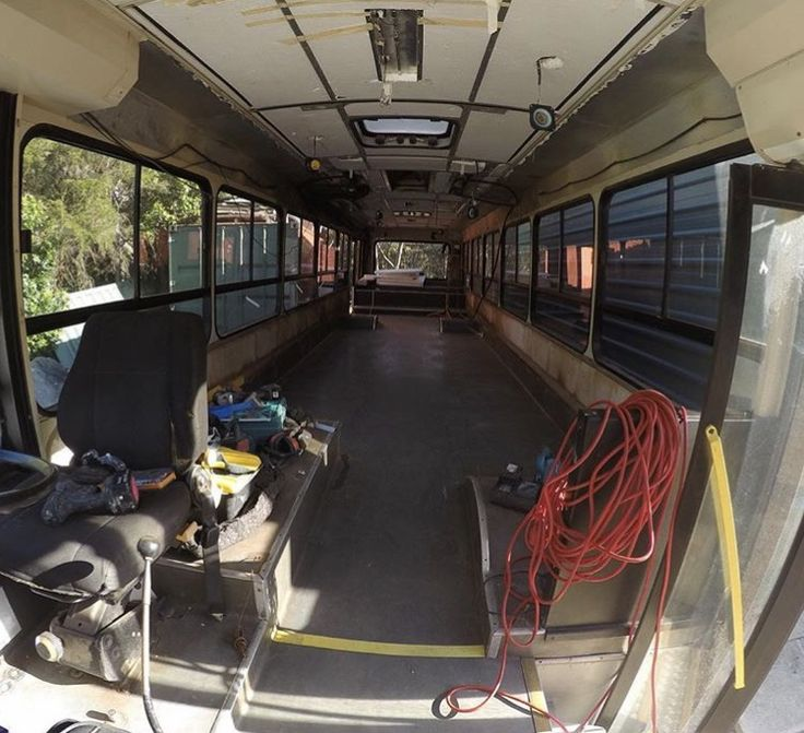 Bus conversion. Insulation and prep for conversion