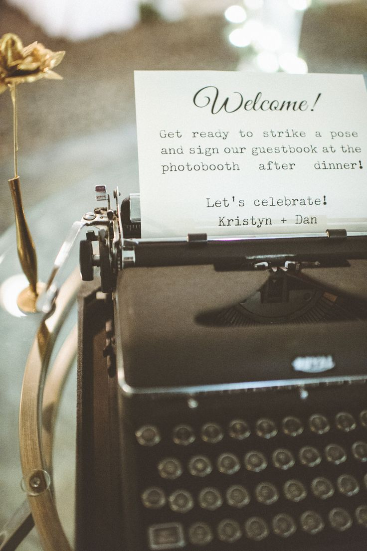 #vintage, #typewriter  Photography: Paper Antler Photography - paperantler.com  Read More: http://www.stylemepretty.com/2014/02/05/diy-winter-wedding/