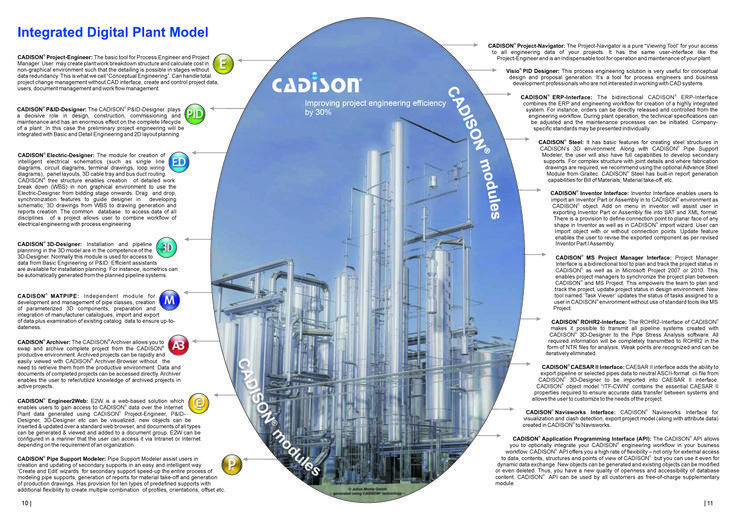 CADISON® combines the engineering workflow in one system and thus significantly accelerates the plant design processes.