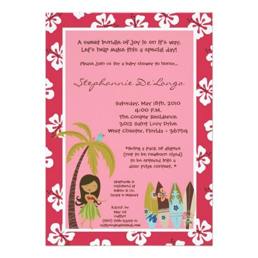 421 best Luau Baby Shower Invitations images on Pinterest Baby