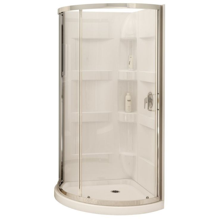 MAAX 80-in H x 34-in W x 34-in L White Round 3-Piece Corner Shower Kit at Lowe's Canada