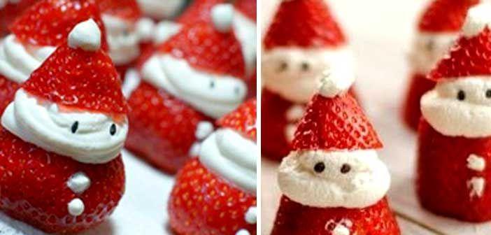Yılbaşı Tatlısı Çilekli Noel Baba