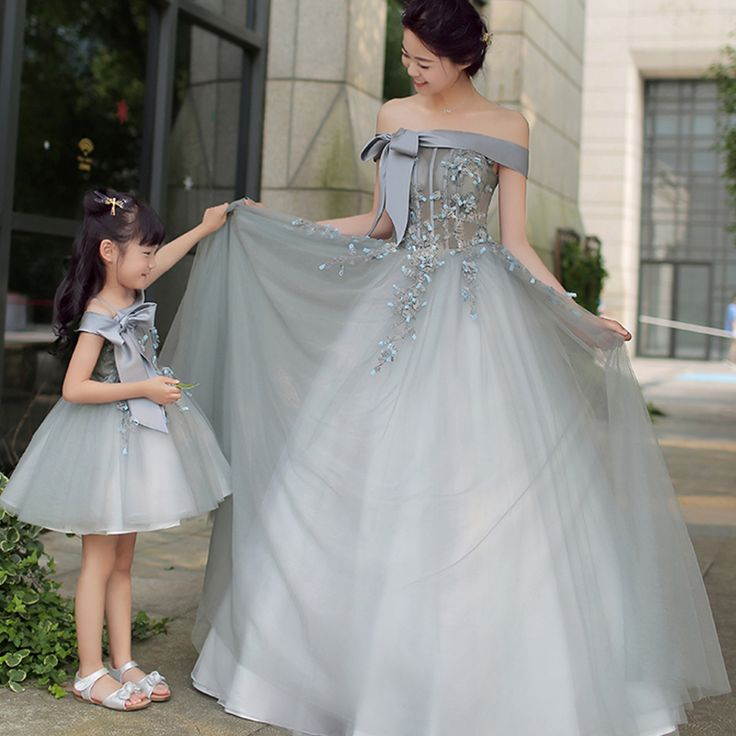 Toddler in Mother's Wedding Dress