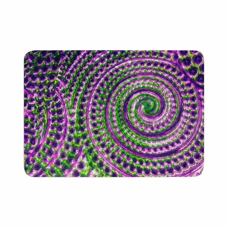 "Sylvia Cook ""Color Inspiration"" Green Purple Memory Foam Bath Mat"