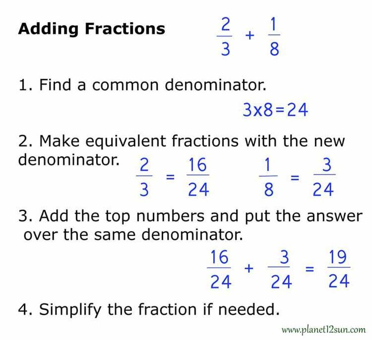 How to add, subtract, multiply, divide, simplify fractions and how to write them in words. What is numerator and denominator.