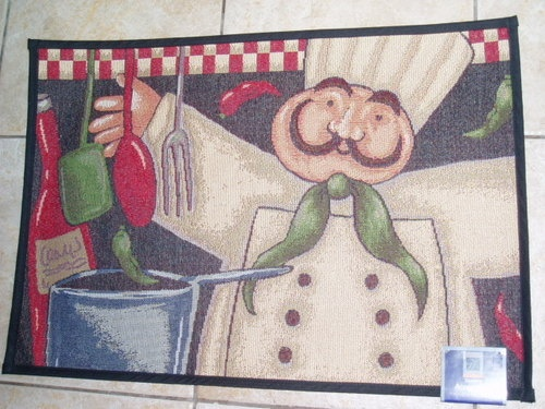 STYLISH KITCHEN FAT ITALIAN FRENCH CHEF RUG MAT THROW | EBay