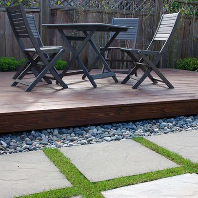 Wood and River Rocks – Landscaping Solution
