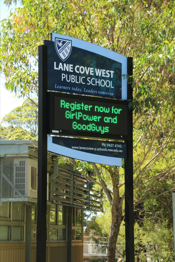 Lane Cove West Public School #CSI #Corporate #sign #industries #custom #design #signage #LED #LEDsignage #unique #branding #awareness #recognition #identity